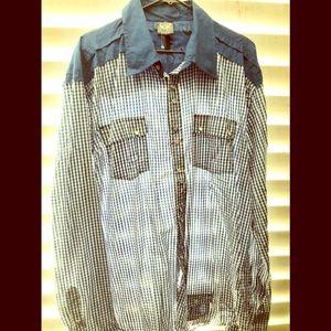 Other - Men's black label button down shirt